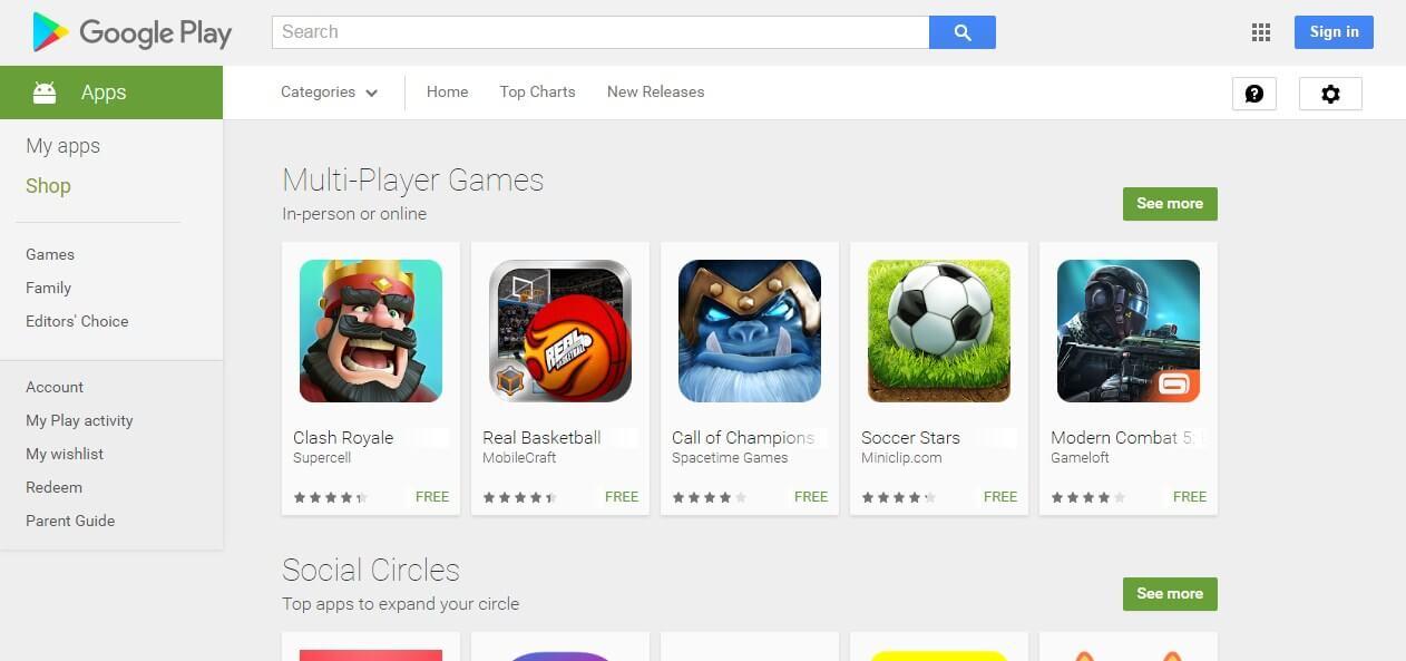 בניית אפליקציות לחברות - חנות גוגל פליי