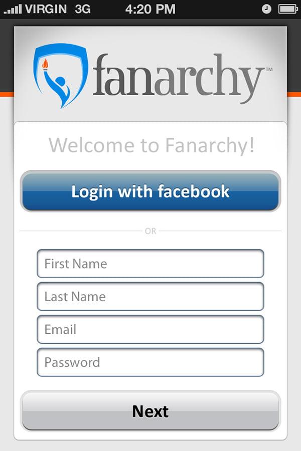 פיתוח אפליקציה Fanarchy