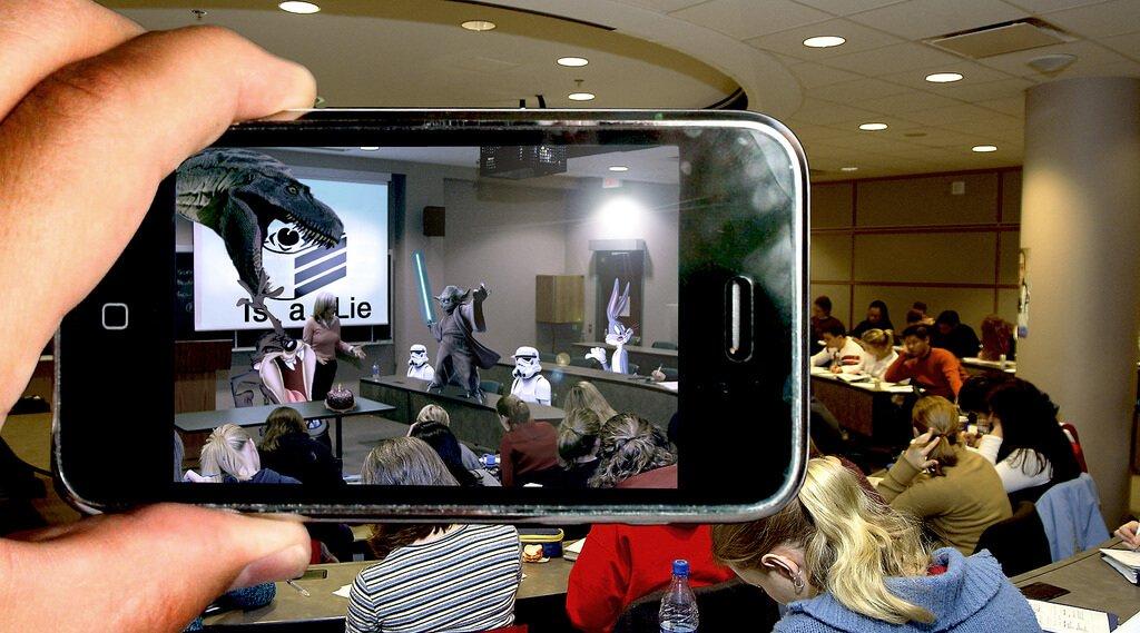 אפליקציית מציאות רבודה בשיעור