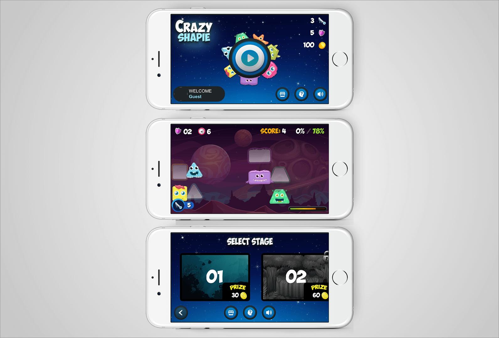 אפליקציה Crazy Shapie