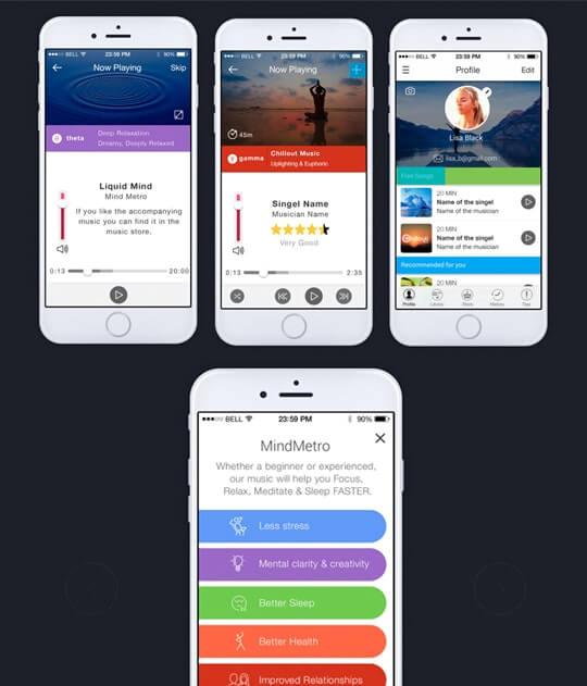אפליקציה MindMetro